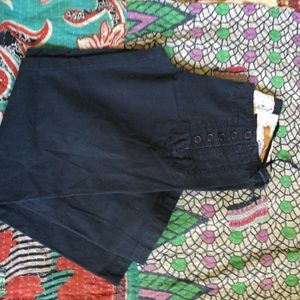 Vintage Me too Navy sailor front capris size 6